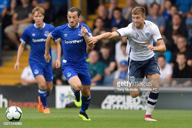 Ashley Williams of Everton during the PreSeason Friendly match between Bury and Everton at Gigg Lane on July 18 2018 in Bury England