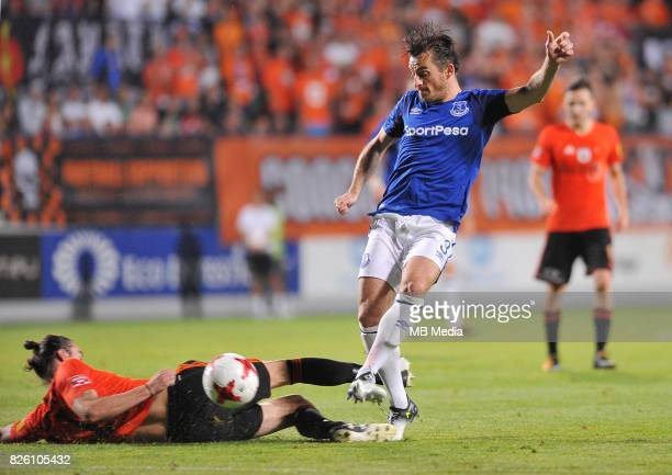 Leighton Baines of Everton in action during the UEFA Europa League Qualifier between MFK Ruzomberok and Everton on August 3 2017 in Ruzomberok...