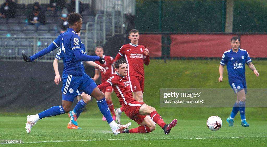 Liverpool U23 v Leicester City U23: Premier League 2 : Nachrichtenfoto