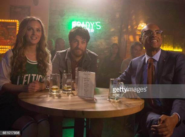 Leighton Meester Adam Pally and Yassir Lester in the 'Boyfriend Experience' episode of MAKING HISTORY airing Sunday March 19 on FOX