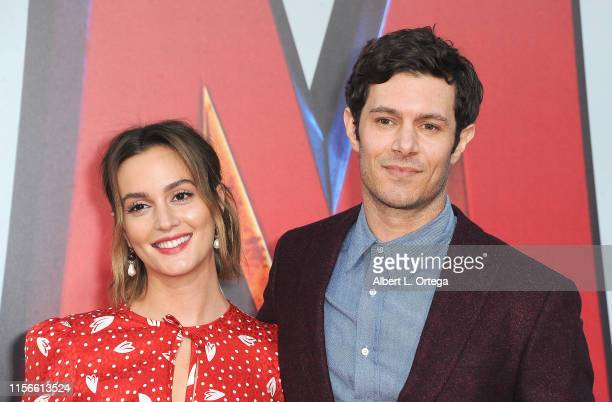 Leighton Meester and Adam Brody arrive for the Warner Bros Pictures And New Line Cinema's World Premiere Of SHAZAM held at TCL Chinese Theatre on...