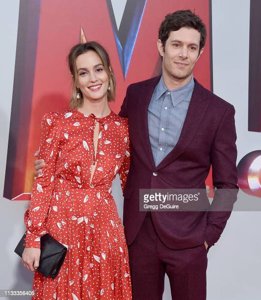 Leighton Meester and Adam Brody attend Warner Bros Pictures And New Line Cinema's World Premiere Of SHAZAM at TCL Chinese Theatre on March 28 2019 in...