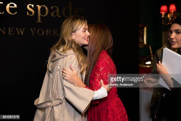 Leighton Meester and Deborah Lloyd attend Kate Spade presentation during New York Fashion Week on February 10 2017 in New York City
