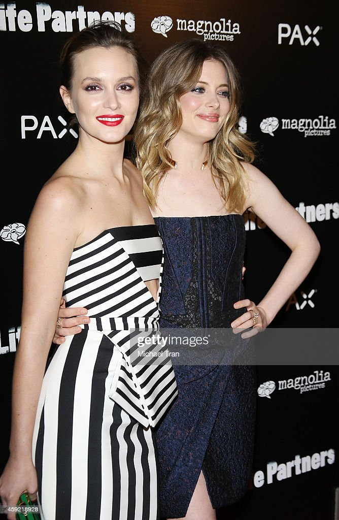 Leighton Meester (L) and Gillian Jacobs arrive at the Los Angeles premiere of 'Life Partners' held at ArcLight Hollywood on November 18, 2014 in Hollywood, California.