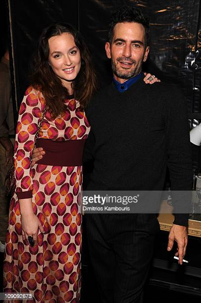 Leighton Meester and Marc Jacobs attend the Marc Jacobs Fall 2011 Collection at N.Y. State Armory on February 14, 2011 in New York City.
