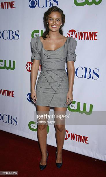 Leighton Meester arrives at the CBS CW Showtime Press Tour Stars Party at Boulevard 3 on July 18 2008 in Hollywood California