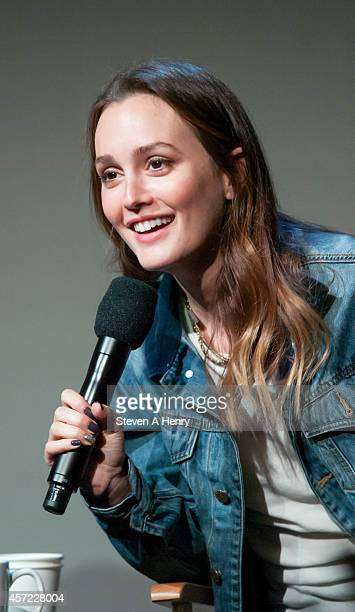 Leighton Meester at Apple Store Soho on October 14 2014 in New York City