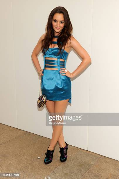 Leighton Meester attends Fashion's Night Out The Show at Lincoln Center on September 7 2010 in New York City