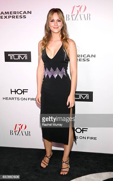 Leighton Meester attends Harper's BAZAAR celebration of the 150 Most Fashionable Women presented by TUMI in partnership with American Express La...