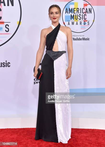Leighton Meester attends the 2018 American Music Awards at Microsoft Theater on October 9 2018 in Los Angeles California