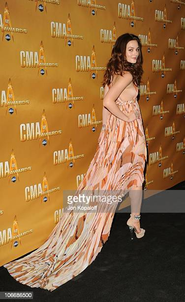 Leighton Meester attends the 44th Annual CMA Awards at the Bridgestone Arena on November 10 2010 in Nashville Tennessee
