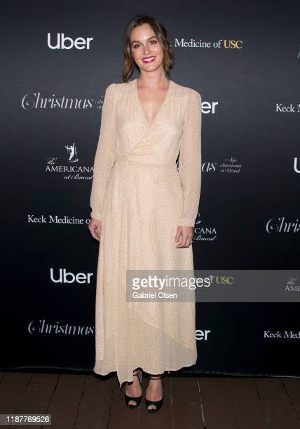 Leighton Meester attends The Americana At Brand Annual Christmas Tree Lighting And Show at The Americana at Brand on November 14 2019 in Glendale...