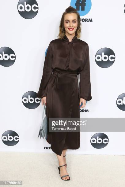 Leighton Meester attends the Disney ABC Television Hosts TCA Winter Press Tour 2019 at The Langham Huntington Hotel and Spa on February 05 2019 in...