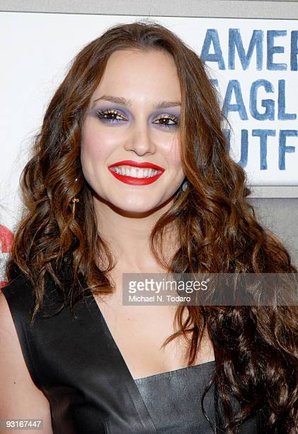 Leighton Meester attends the grand opening celebration of American Eagle Outfitters Times Square on November 17 2009 in New York City
