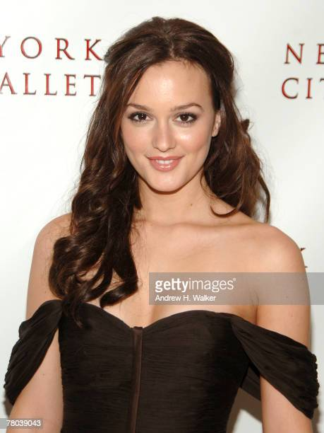 Leighton Meester attends the New York City Ballet opening night gala on November 20 2007 in New York City