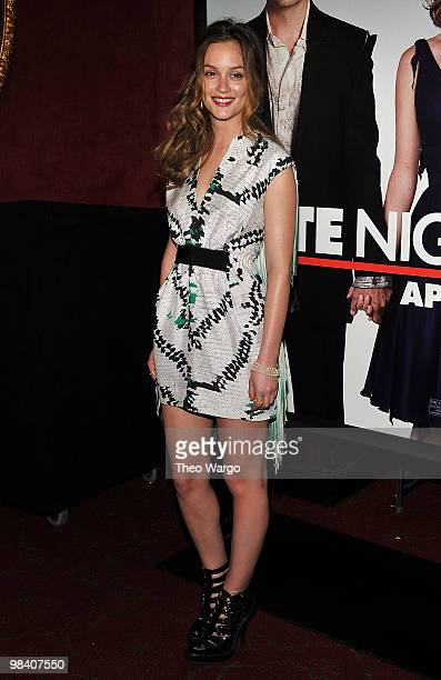 """Leighton Meester attends the premiere of """"Date Night"""" at Ziegfeld Theatre on April 6, 2010 in New York City."""