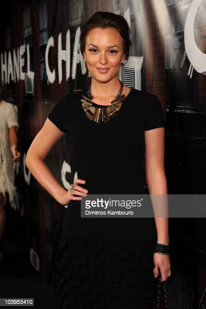 Leighton Meester attends the reopening of the CHANEL SoHo Boutique at the Chanel Boutique Soho on September 9 2010 in New York City