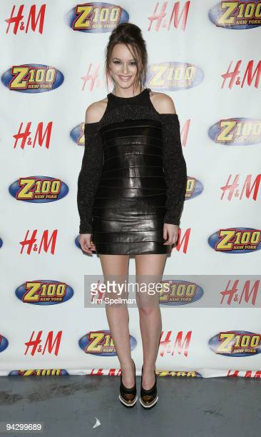 Leighton Meester attends Z100's Jingle Ball 2009 presented by H&M at Madison Square Garden on December 11, 2009 in New York City.