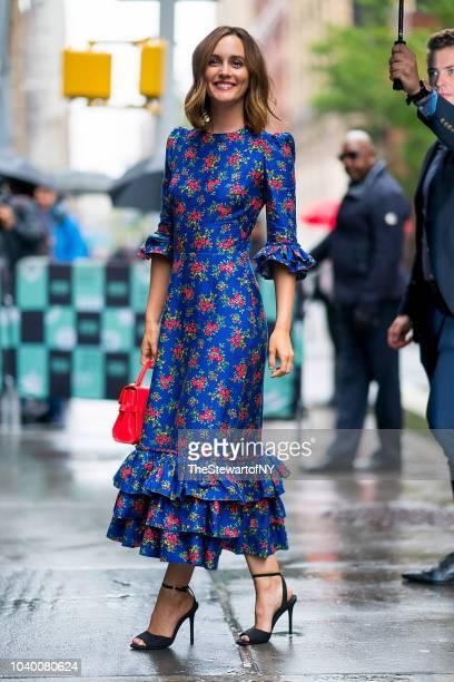 Leighton Meester is seen in NoHo on September 25 2018 in New York City