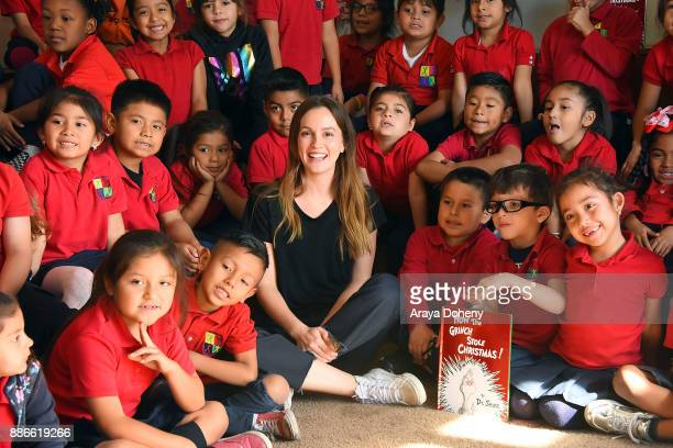Leighton Meester joins Feeding America Random House Children's Books to read Dr Seuss's How the Grinch Stole Christmas and serve lunch at Para Los...