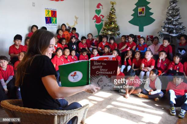 Leighton Meester joins Feeding America Random House Children's Books to read Dr Seuss's 'How the Grinch Stole Christmas' and serve lunch at Para Los...
