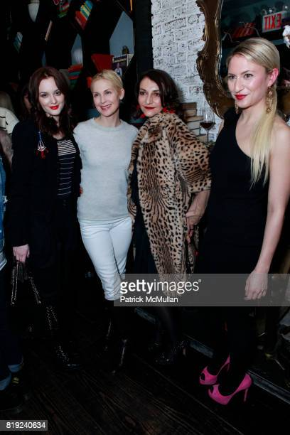 Leighton Meester Kelly Rutherford Nathalie Rykiel and Lola Rykiel attend SONIA RYKIEL POUR HM Exclusive Preview at Bobo on February 4 2010 in New...