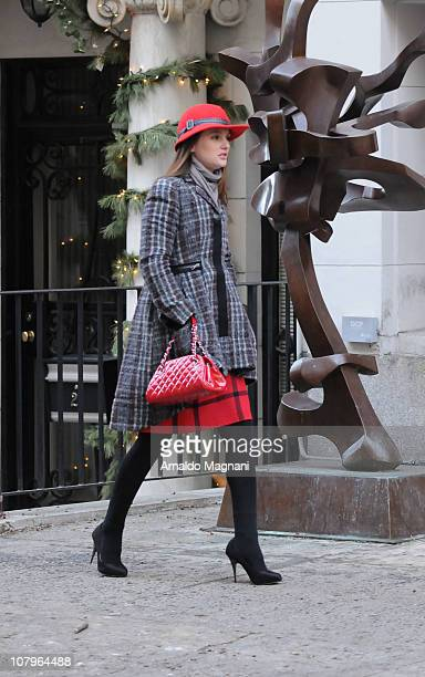Leighton Meester on the set of Gossip Girl on January 10 2011 in New York City
