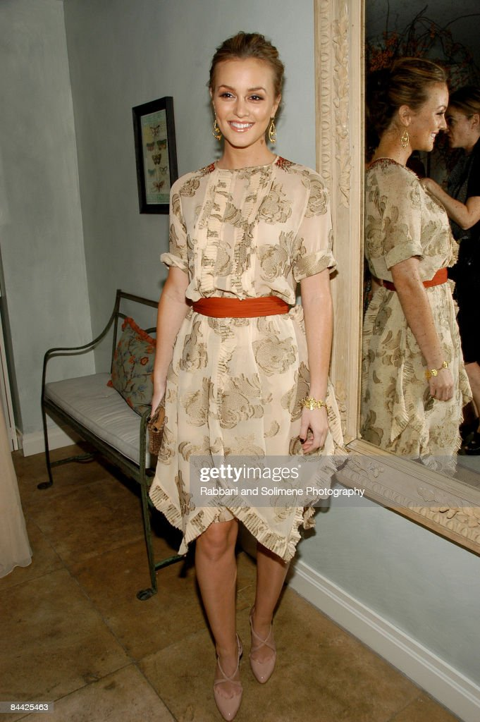 Leighton Meester wearing Jason Wu attends a cocktail party celebrating the 5th CFDA/Vogue Fashion Fund at a private residence on October 14, 2008 in New York City.