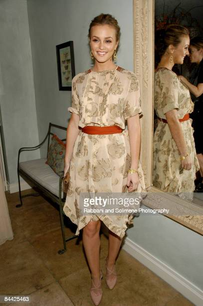 NEW YORK OCTOBER 14 Leighton Meester wearing Jason Wu attends a cocktail party celebrating the 5th CFDA/Vogue Fashion Fund at a private residence on...