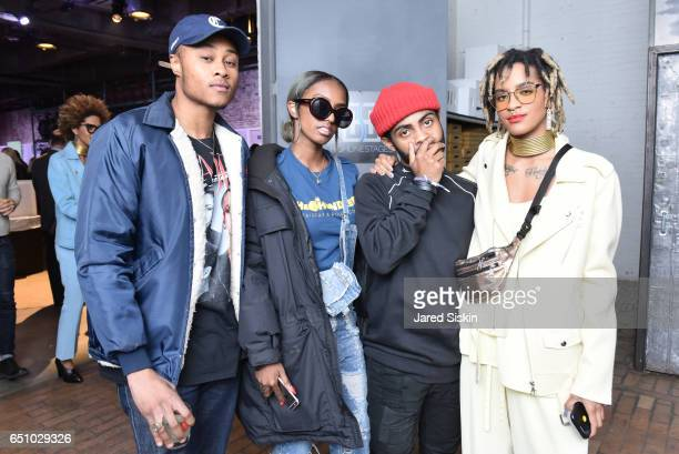 Leighton Pope Ohso Anthony Somebody and DJ Breezy attend the Meatpacking District's 4th Annual Open Market at Highline Stages on March 9 2017 in New...