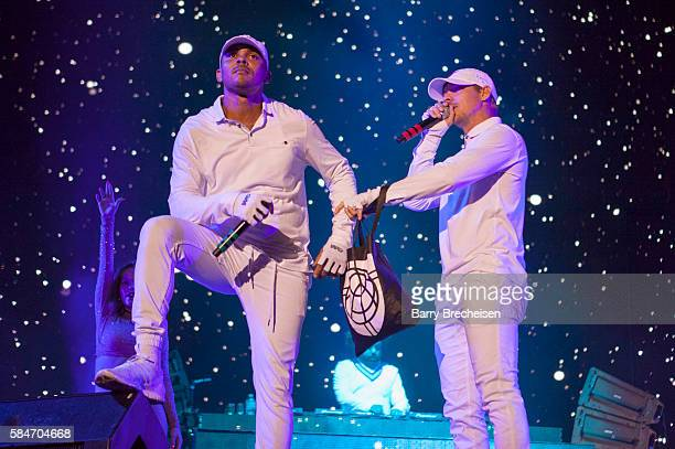 Leighton Walsh aka Walshy Fire and Thomas Wesley Pentz aka Diplo of Major Lazer perform during 2016 Lollapalooza Day Two at Grant Park on July 29...