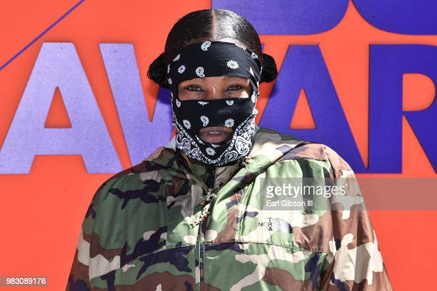 Leikeli47 attends the 2018 BET Awards at Microsoft Theater on June 24 2018 in Los Angeles California