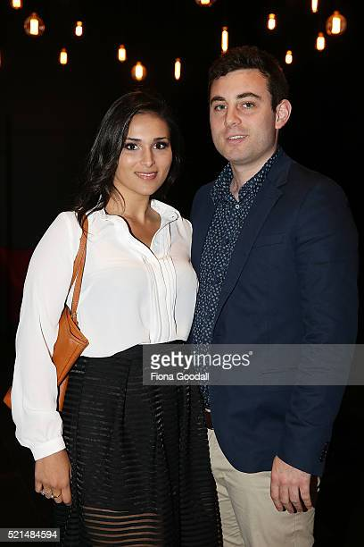 Leila Alexander and Rafi Stone attend a screening of Eddie the Eagle at Hoyts Sylvia Park on April 16 2016 in Auckland New Zealand