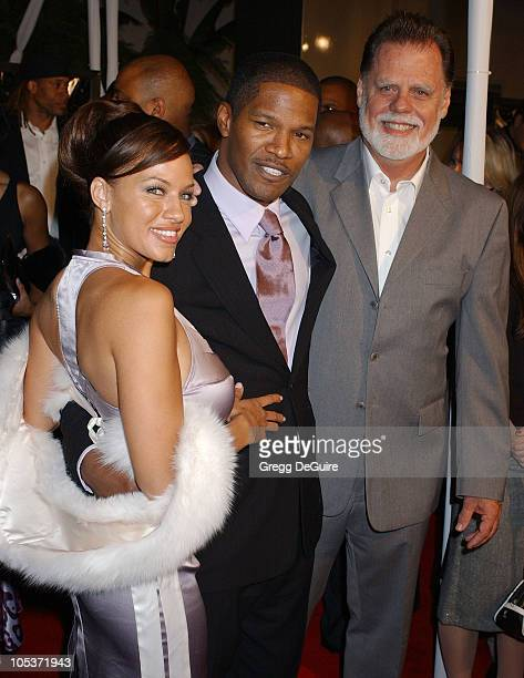 Leila Arcieri Jamie Foxx and Taylor Hackford during Ray Los Angeles Premiere Arrivals at Cinerama Dome in Hollywood California United States