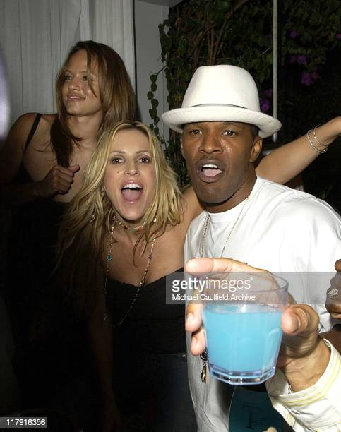 Leila Arcieri Jillian Barberie and Jamie Foxx during 2004 ESPY Awards Jamie Foxx After Party at Skybar at The Mondrian in Los Angeles California...