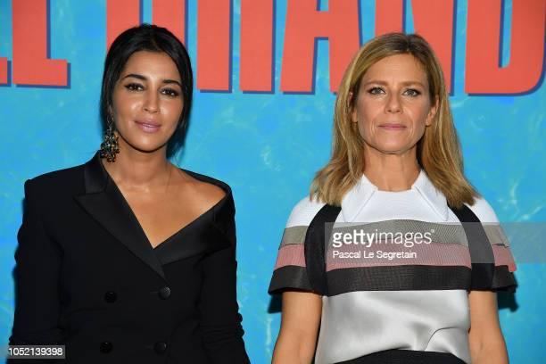 Leila Bekhti and Marina Fois attend Le Grand Bain Paris Premiere at Le Grand Rex on October 14 2018 in Paris France