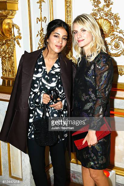 Leila Bekhti and Melanie Laurent attend the Lonchamp Cocktail as part of the Paris Fashion Week Womenswear Spring/Summer 2017 at Longchamp Boutique...