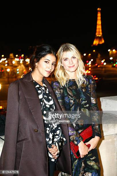 Leila Bekhti and Melanie Laurent attend the Lonchamp dinner as part of the Paris Fashion Week Womenswear Spring/Summer 2017 at Longchamp Boutique St...
