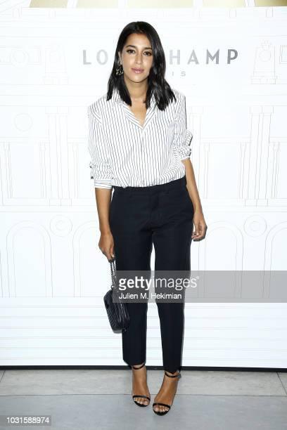 Leila Bekhti attends the Longchamp 70th Anniversary Celebration at Opera Garnier on September 11 2018 in Paris France