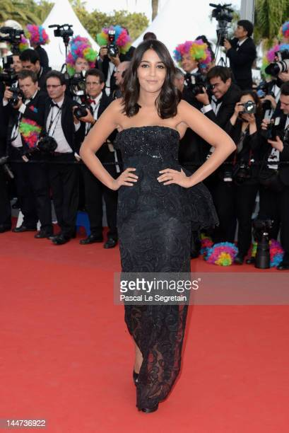 Leila Bekhti attends the Madagascar 3 Europe's Most Wanted Premiere during the 65th Annual Cannes Film Festival at Palais des Festivals on May 18...