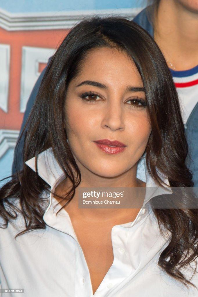 Leila Bekhti attends the 'Planes' Paris Premiere At UGC