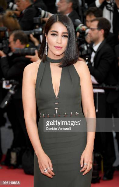Leila Bekhti attends the screening of Everybody Knows and the opening gala during the 71st annual Cannes Film Festival at Palais des Festivals on May...