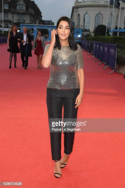 Leila Bekhti attends the The Sister Brothers Les Freres Sisters film premiere on September 4 2018 in Deauville France
