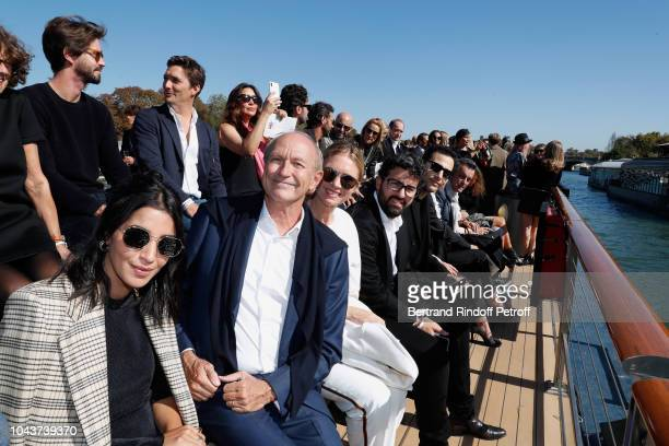 Leila Bekhti Chairman Chief Executive Officer of L'Oreal and Chairman of the L'Oreal Foundation JeanPaul Agon his wife Sophie Nicolas...