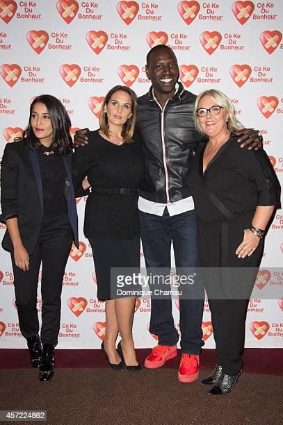 Leila Bekhti Helene Sy Omar Sy Valerie Damidot attend the Samba Premiere To Benefit 'CekeDuBonheur' At Cinema Gaumont Champs Elysees on October 14...