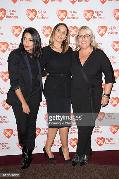 Leila Bekhti Helene Sy Valerie Damidot attend the Samba Premiere To Benefit 'CekeDuBonheur' At Cinema Gaumont Champs Elysees on October 14 2014 in...