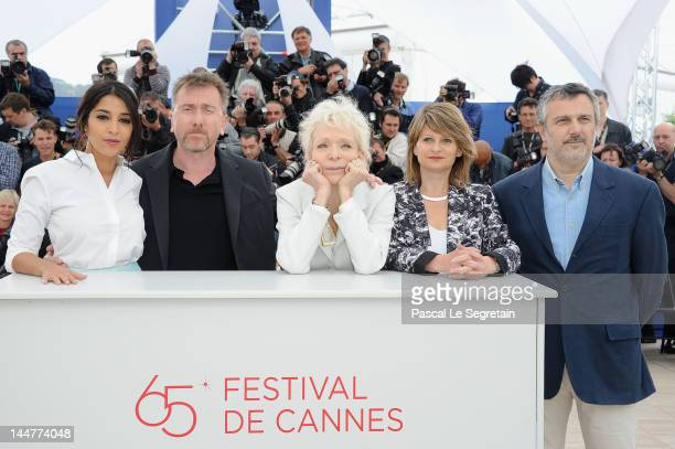 Leila Bekhti President of the Jury Tim Roth Tonie Marshall Sylvie Pras and Luciano Monteagudo pose at the Jury Un Certain Regard photocall during the...