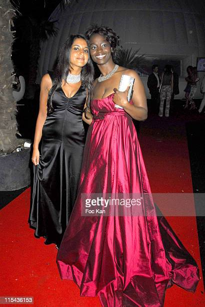 Leila Bekti and Aissa Maiga during 2006 Cannes Film Festival Frederic Taddei's 'La Party' Hosted by Canal Plus at VIP Room Palm Beach in Cannes France