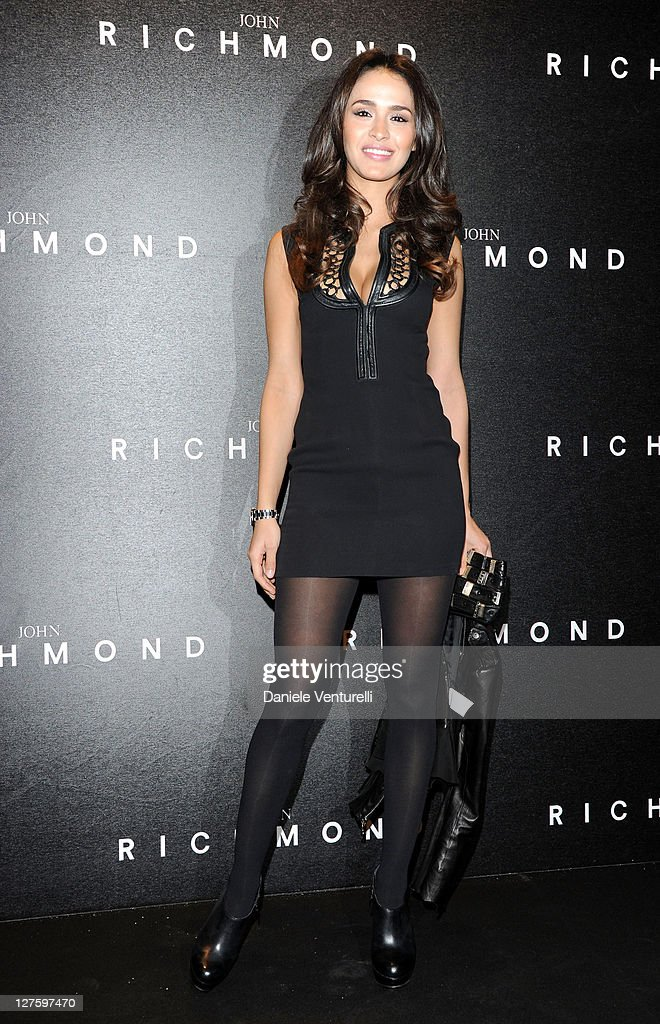 Leila Ben Khalifa attends the John Richmond Fashion Show as part of Milan Fashion Week Womenswear Autumn/Winter 2011 on February 23, 2011 in Milan, Italy.