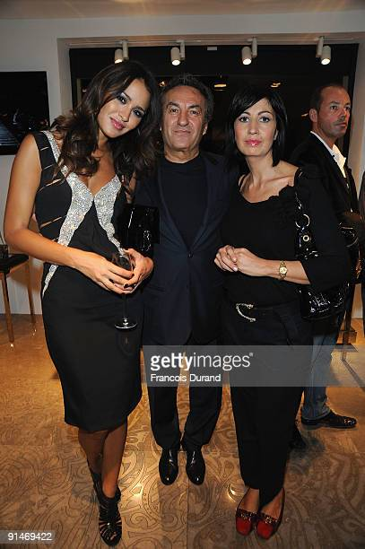 Leila Ben Khalifa, Saverio Moschillo and Candida Morvillo attend the John Richmond Cocktail as part of the Paris Womenswear Fashion Week...